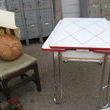My favorite is the enamel top table. The top and leaves are perfect!