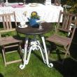 Wrought Iron Table Base...turned Beautiful Garden Table!