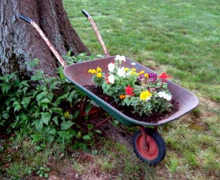 Flower Garden Ideas With Old Wheelbarrow simple flower garden ideas with old wheelbarrow gardens super easy