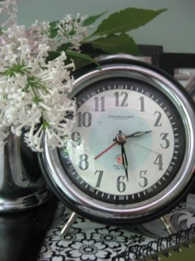 Tick-tock, senior year is on its way! I loved this newer vintage clock when I picked it up at an estate sale in California.