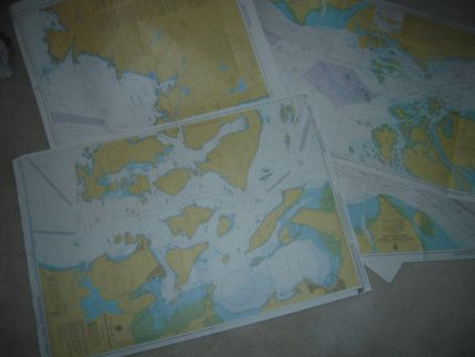 Worldwide navigational charts just waiting for a creative endeavor.