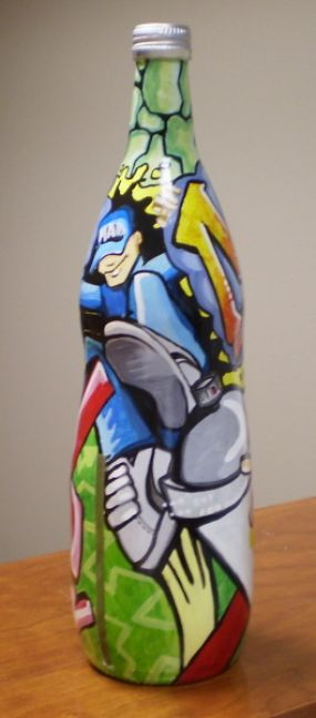 This is the finished tall lemonade bottle.