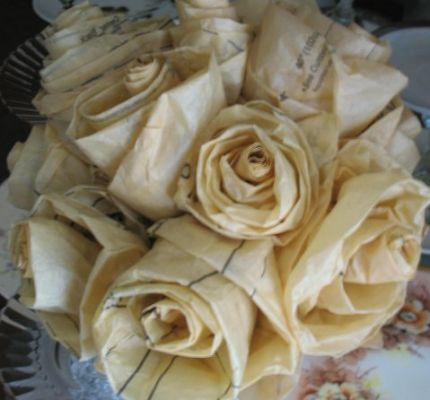 Handmade Sewing Pattern Tissue Roses