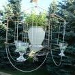 From garden fence...to cloche...to chandelier!