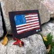 Old Glory Miniature License Plate Art by Design Turnpike