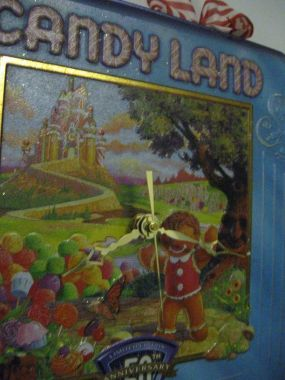 Candyland 50th Anniversary Tin Turned Tin Wall Clock