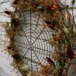 Fan Grate Wreath - Profile Bittersweet, Goldenrod (gone to seed), Sumac and Milkweed