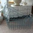 Old teal metal baskets - from a freezer???