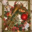 Finished project with my husbands trumpet. I was planning something simple. Dont know what happened, always next year, though.