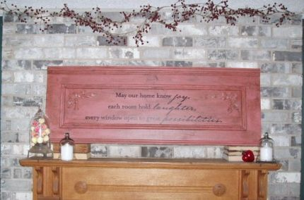 This the completed mantel. Looks a little stark after Christmas. My eyes were ready for a rest!