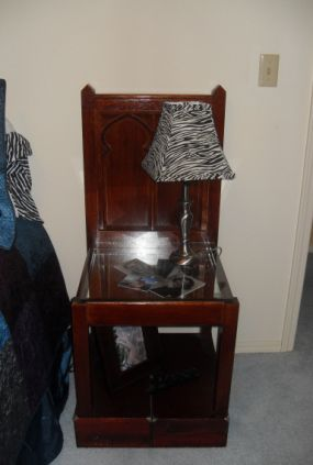 the chair as a bedside table.