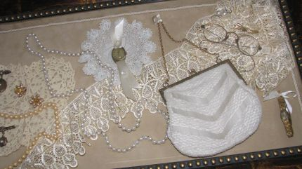 A purse from my collection, lace and other pretty things.