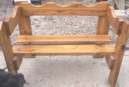 Bench from a bedframe