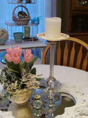 A cute candlestick stand...and maybe some other possibilities...