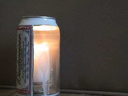 Inner aluminum walls magnify and project lumens optimizing the power of one candle.