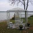 This is the former canopy metal structure which is now turned into this cool place to sit by the lake.