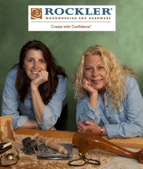 Linda Haus and Lin Cable of Rockler Woodworking and Hardware