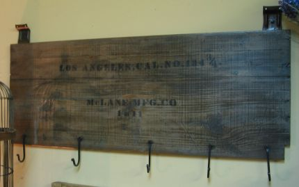 Shipping Crate Coat Rack