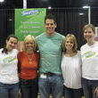 How to feel small. Stand next to a 65 Home Maven (really, thats what it says on his card...go figure) Patrick Brown from TLCs Homemade Simple. Kate and Kate from Swiffer were running the show.