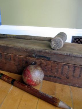 Croquet sets are still among my favorite summer junk. This one will be done up in a whole new way....