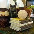 The couch needed something behind it, and this recently purchased pallet I think worked perfectly.  With the vintage large wicker basket, and a few accessories, it adds to the more organic feel of the space.  And well, Jazzy my cat, she finds the wicker basket the perfect place to nap!