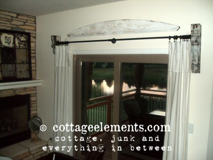 Curtains Ideas corbel curtain rod bracket : From Corbels to Curtain Rod! - JUNKMARKET Style