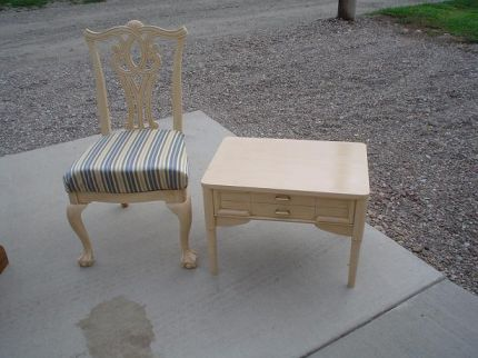 Queen Anne Chair and End Table.