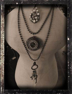 Vintage Treasures Abound... Some jewelry I made with vintage treasures... I love this photo effect!