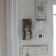 Need to hide the thermostat control in your home?  Just surround it with architectural elements!