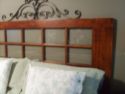 Ive seen people use old doors as headboards before and I always really liked the look & French Door Headboard - JUNKMARKET Style pezcame.com