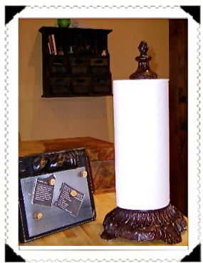 Paper Towel Holder made from vintage lamp