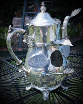 Silverplate Teapot turns into an upcycled bird house!