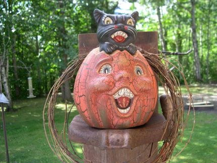 Ok, I know its early for a Halloween pic, but I dont have any plain pumpkins. I picked up a whole stack of old tricycle parts. I just finished this in the shop this morning. The old seat worked perfect.