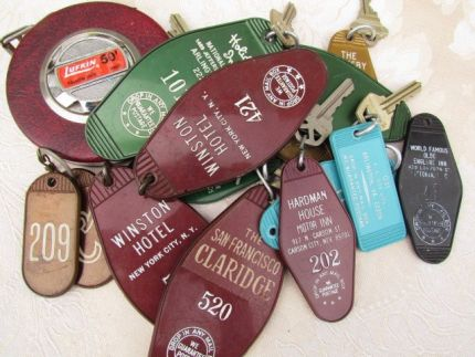 Do you remember these hotel room keys from before the days of plastic cards? They made great souvenirs.