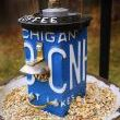 Two Upcycled Bird Feeders