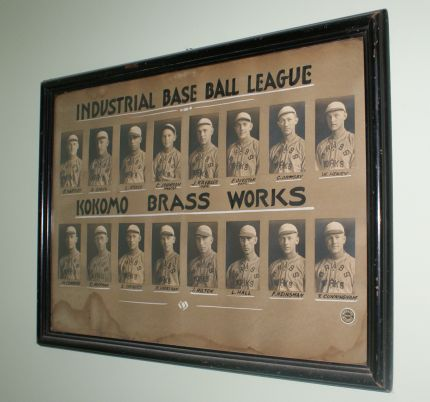 Vintage baseball team photo from Industrial League