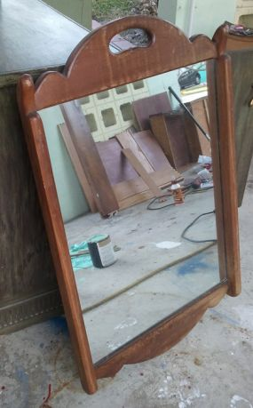 Im not sure what will become of this mirror. It has some patina to it, and the clear coat on it has some crackling. Ideas?