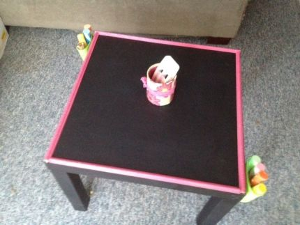 Chalkboard Table For The Kids