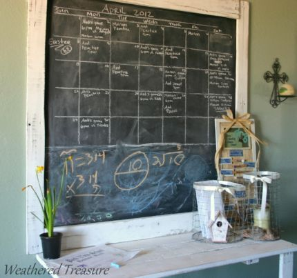 Paint A Chalkboard On Textured Wall Framed With Pallet Wood