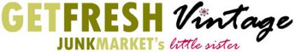 Logo! The logo is representative of the original JUNKMARKET and JUNKMARKET Style....including the familiar JUNKMARKET greens. A fresh new rasberry color and the image of a daisy represent GETFRESH Vintage,...the little sister.