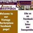 To enter the sweepstakes first go to the Vintage Marketplace facebook page by clicking here.
