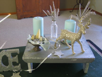 coffee table holiday bling junkmarket style