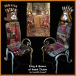 King and Queen of Hearts Chairs