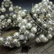 The beauty begins with loverly vintage pearl bracelets that just happen to fit around the bottles...go figure!
