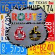 Route 66 License Plate Art