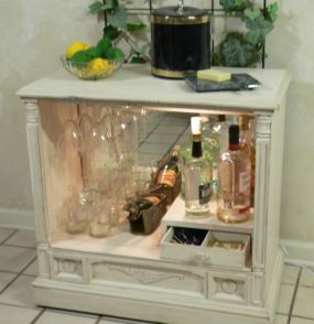 Shabby Chic Bar From A TV Cabinet