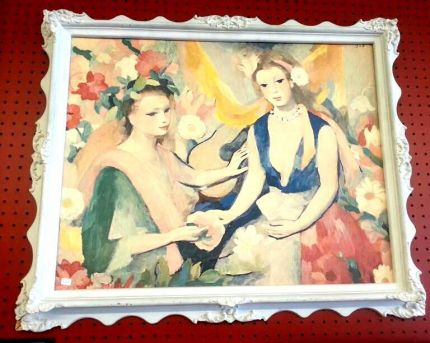 1948  I dont know much about this particular Art. All know is,  it was love  at first sight. Water color painting from 1948. Its like no other that  ive seen before. Love or Hate it!   Just Wanted To Share With You All
