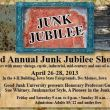 Visit the Junk Jubilee FB page for all the details.