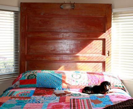 The door is fairly big - thats a kingsize bed.