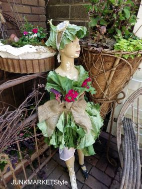 My little garden fairy all dressed up for the party.